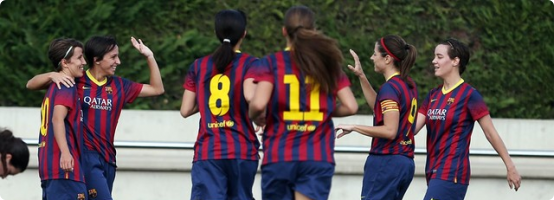 campamentos de fútbol para chicas: FCB Barcelona Escola