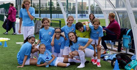 Training City NY girls soccer camp