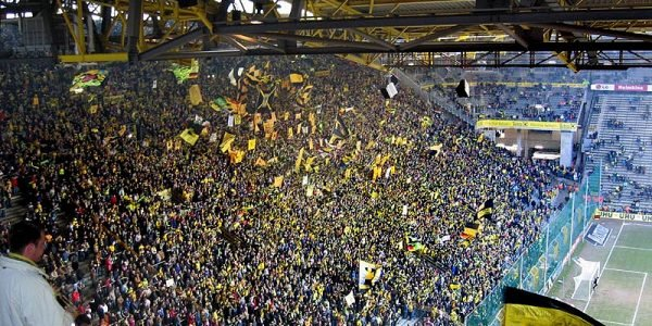 signal iduna park football stadium 600x300 - 11 Famous Football Stadiums: Which is the biggest? The most modern? The most impressive? The strangest?