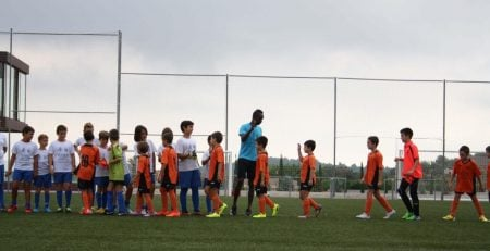 Training at the FC Porto Soccer and Spanish camp