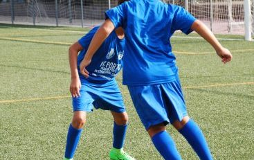 Boys training at one of the best high-performance winter soccer camps