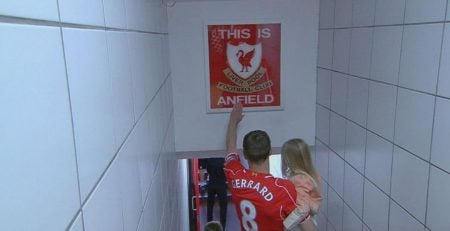 gerrard touch This Is Anfield sign funniest soccer superstitions