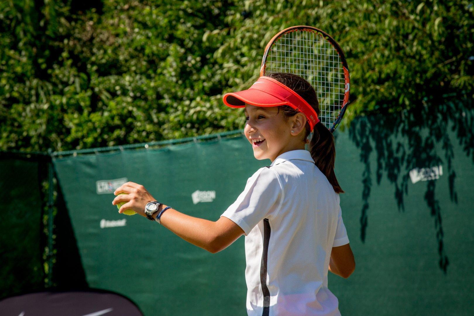 material de tenis para niños
