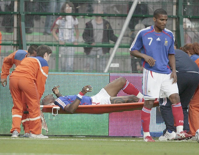 Worst soccer injuries: Cisse with France
