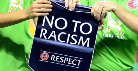 Poster against racism in football