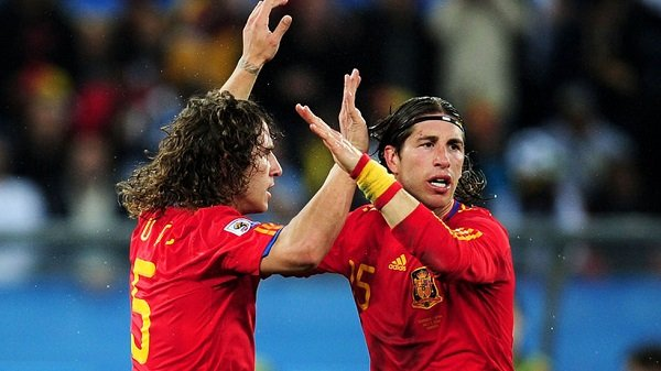 puyo and ramos the defenders of spain national football team - Spain National Football Team Best XI