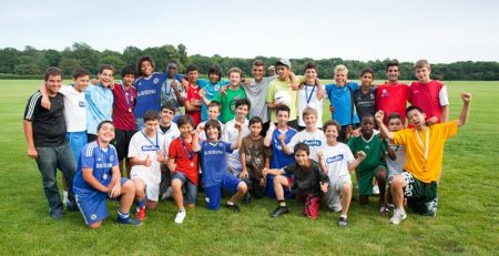 alumnos de los campamentos de verano en España de Camp Rialp fútbol