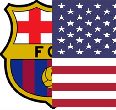 escudo del campamento de fútbol de alto rendimiento FC Barcelona USA - Acampamentos de futebol de alto rendimento 2021