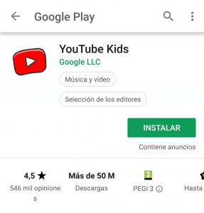 Instalacion youtube kids 287x300 - Guide de contrôle parental 2020 - Garantissez la sécurité de vos enfants sur Internet.