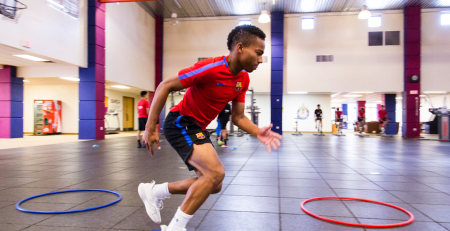 Agility training to get a US soccer scholarship