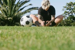man in black t shirt and white and black soccer ball on 3621498 300x200 - 8 Ways Young Athletes Can Stay Healthy While at Home