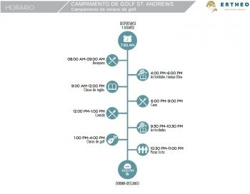 Golf + Idiomas - St. Andrews 2021 schedule