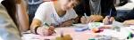 Language classes at Campamento de hípica en Inglaterra. Wide picture