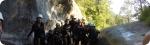 Training im Abenteuer-Camp in Andorra. Horizontales Bild