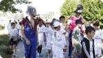 Attività ricreative del Real Madrid Scuola Calcio. Immagina a sinistra