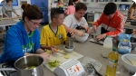 Einblick in die Unterkunft des Sprachcamp in Grossbritannien. Rechtes Bild