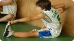 Training at Campamento de Baloncesto en Andorra. Right picture