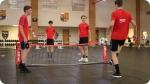 Treinamento no Acampamento de Futebol do FC Barcelona - Alto Rendimento. Foto à direita