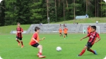 Treinamento no AC Milan. Foto à direita
