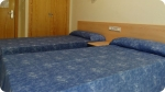 A closer look at the accommodation at . Right photo