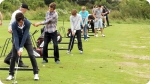 Training at Golf + Idiomas - St. Andrews. Left picture