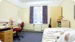A closer look at the accommodation at St. Andrews. Left photo