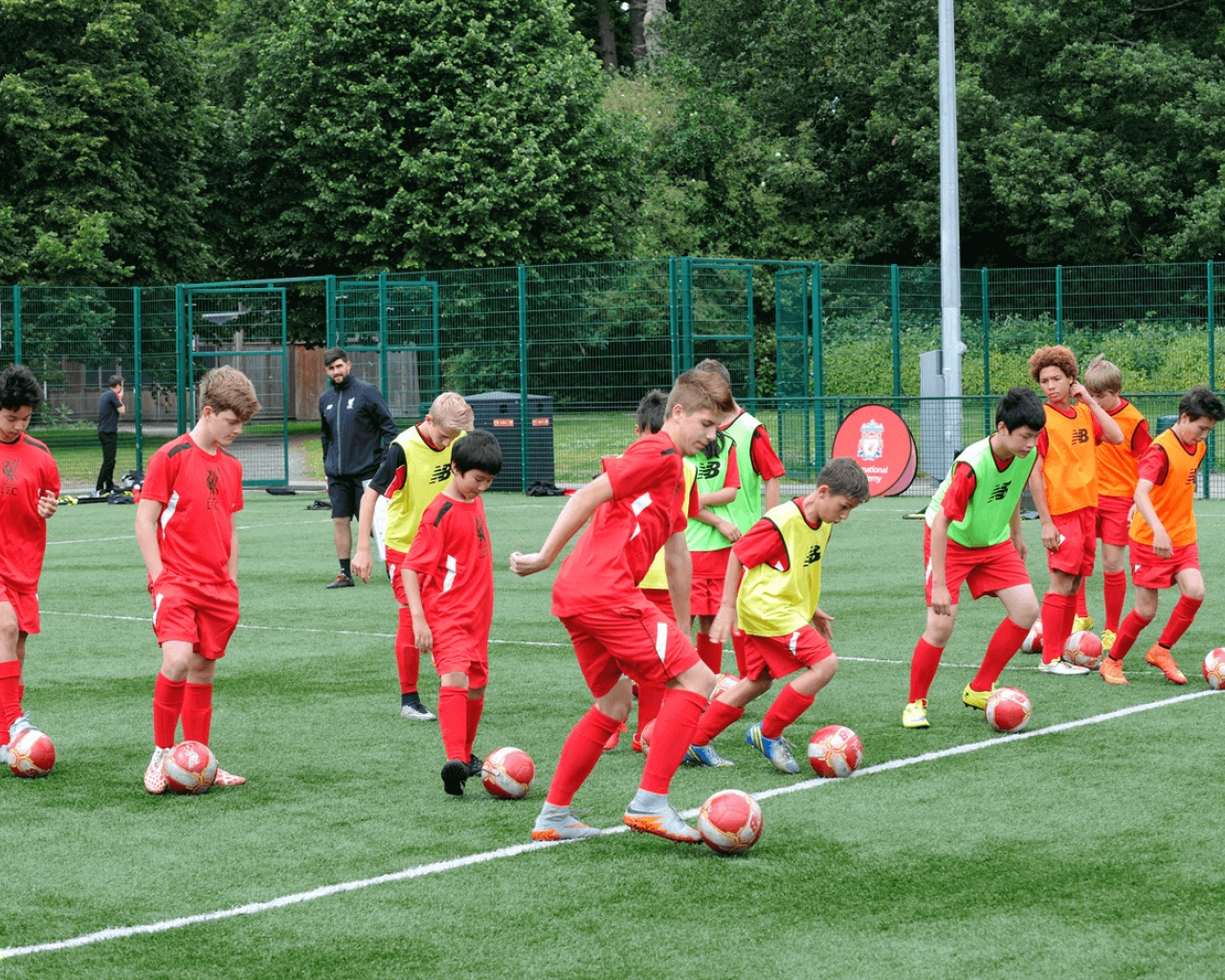 Allenamento calcio Liverpool ufficiale