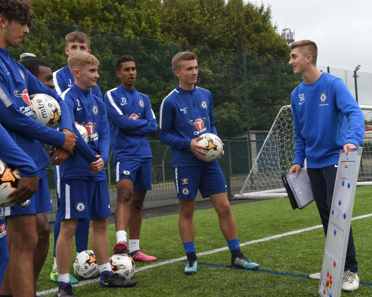 Chelsea FC Foundation Training. Training at Chelsea FC Foundation Football Soccer  Camp 38fe70b60